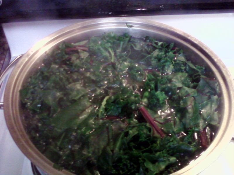 Boiling Beet Greens Batman!
