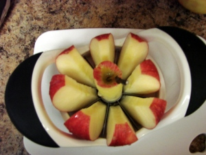 apple in corer