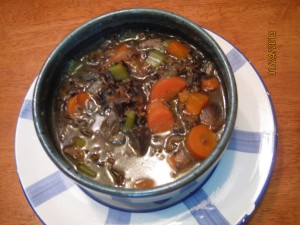 SOTW: Wild Rice and Mushroom Soup