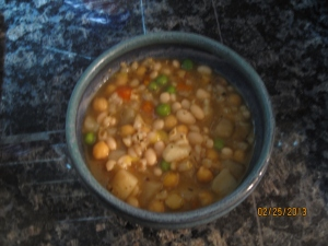 SOTW: Slow Cooker Vegetable, Bean and Barley Stew