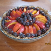 Fresh Nectarine Cream Pie with Walnut Crust (GF,V)