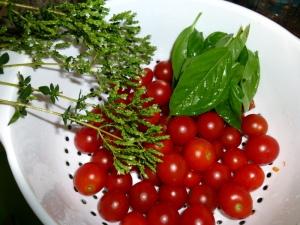 Fresh from the garden Baby.  So good!